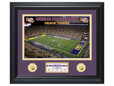 LSU Tigers Highland Mint Special Edition Gold Coin Photo Mint