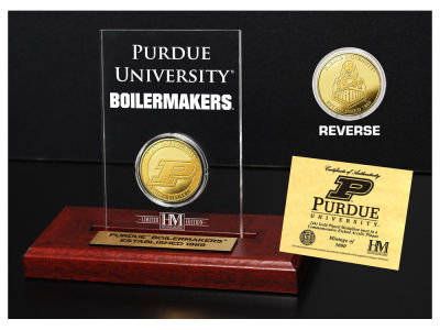 Purdue Boilermakers Highland Mint Gold Coin Etched Acrylic