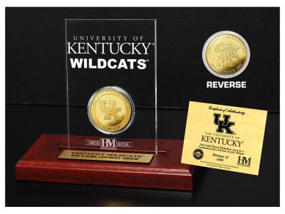 Kentucky Wildcats Highland Mint Gold Coin Etched Acrylic
