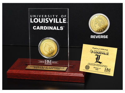Louisville Cardinals Highland Mint Gold Coin Etched Acrylic