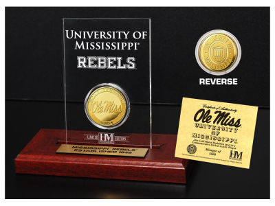 Ole Miss Rebels Highland Mint Gold Coin Etched Acrylic