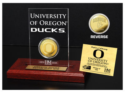 Oregon Ducks Highland Mint Gold Coin Etched Acrylic