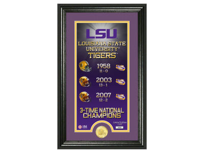LSU Tigers Highland Mint Legacy Supreme Bronze Coin Panoramic Photo Mint