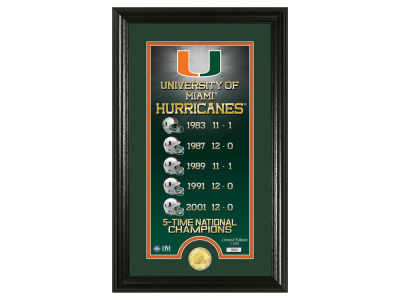 Miami Hurricanes Highland Mint Legacy Supreme Bronze Coin Panoramic Photo Mint
