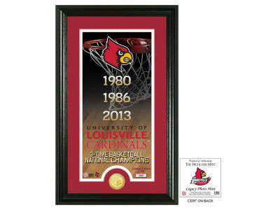 Louisville Cardinals Highland Mint Legacy Supreme Bronze Coin Panoramic Photo Mint
