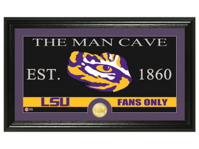 LSU Tigers Highland Mint Man Cave Bronze Coin Panoramic Photo Mint