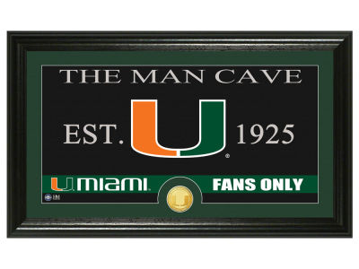 Miami Hurricanes Highland Mint Man Cave Bronze Coin Panoramic Photo Mint