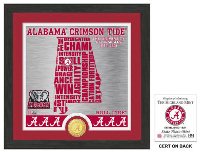 Alabama Crimson Tide Highland Mint State Coin Photo Mint