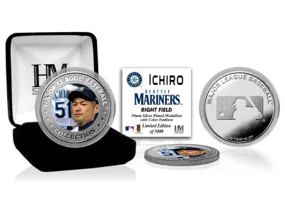 Seattle Mariners Ichiro Suzuki Highland Mint Silver Color Coin