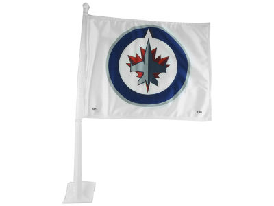 Winnipeg Jets 2 Sided Car Flag
