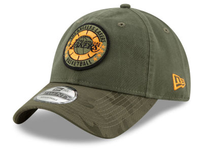 Los Angeles Lakers New Era 2018 NBA Tip Off Army 9TWENTY Cap