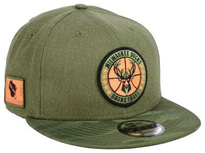 1419edd04f6 Milwaukee Bucks New Era NBA Tip Off 9FIFTY Snapback Cap