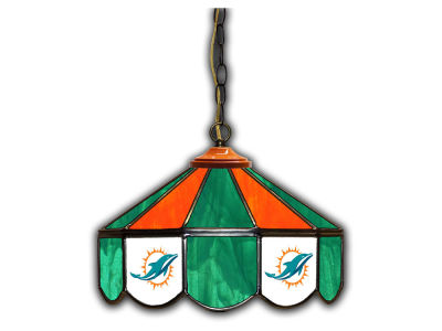 "Miami Dolphins Imperial 14"" Glass Pub Lamp"
