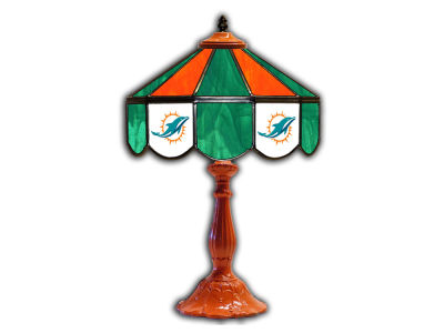 "Miami Dolphins Imperial 21"" Glass Table Lamp"