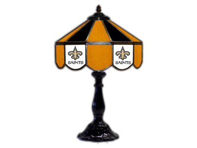 "New Orleans Saints Imperial 21"" Glass Table Lamp"
