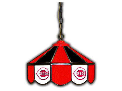 "Cincinnati Reds Imperial 14"" Glass Pub Lamp"