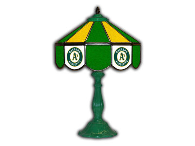 "Oakland Athletics Imperial 21"" Glass Table Lamp"