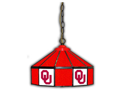 "Oklahoma Sooners Imperial 14"" Glass Pub Lamp"