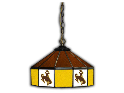"Wyoming Cowboys Imperial 14"" Glass Pub Lamp"
