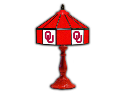 "Oklahoma Sooners Imperial 21"" Glass Table Lamp"