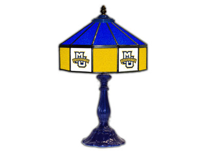 "Marquette Golden Eagles Imperial 21"" Glass Table Lamp"