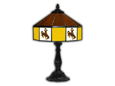 "Wyoming Cowboys Imperial 21"" Glass Table Lamp"