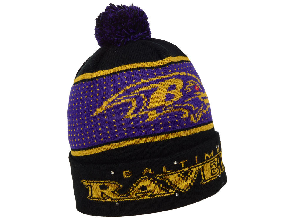 5aea37fa3 Baltimore Ravens Forever Collectibles NFL Big Logo Light Up Knit ...