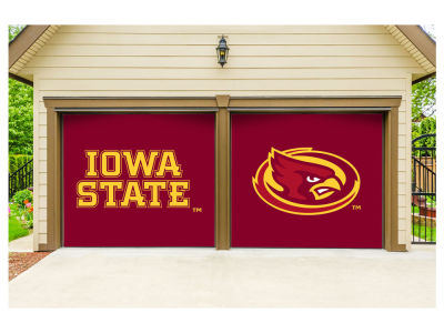 Iowa State Cyclones Victory Corps 7x8 Split Garage Door Decor