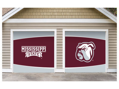 Mississippi State Bulldogs Victory Corps 7x8 Split Garage Door Decor