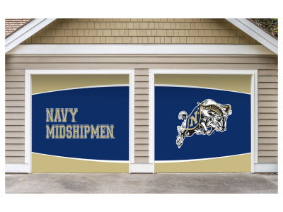 Navy Midshipmen Victory Corps 7x8 Split Garage Door Decor