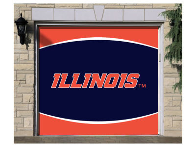 Illinois Fighting Illini Victory Corps 7x8 Single Garage Door Decor