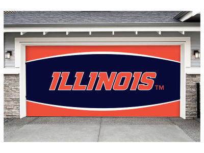 Illinois Fighting Illini Victory Corps 7x16 Double Garage Door Decor