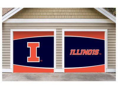 Illinois Fighting Illini Victory Corps 7x8 Split Garage Door Decor