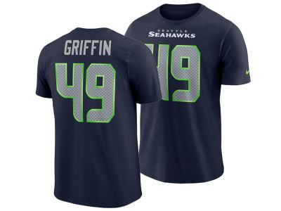 Seattle Seahawks Shaquem Griffin Nike NFL Men's Pride Name and Number Wordmark T-shirt
