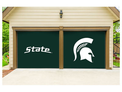 Michigan State Spartans Victory Corps 7x8 Split Garage Door Decor