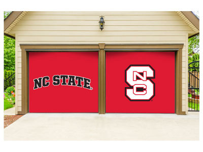North Carolina State Wolfpack Victory Corps 7x8 Split Garage Door Decor