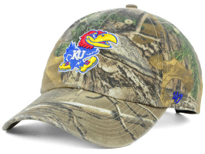 Kansas Jayhawks '47 NCAA Real Tree CLEAN UP Cap