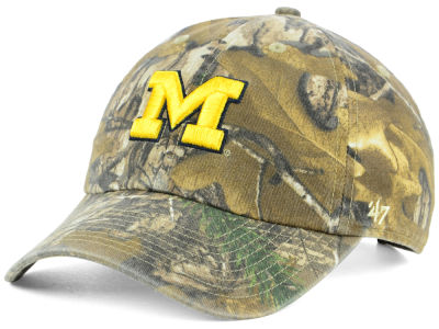 the best attitude ec1a8 1224b Michigan Wolverines  47 NCAA Real Tree CLEAN UP Cap