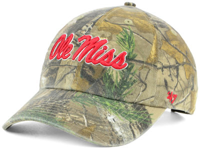 Ole Miss Rebels '47 NCAA Real Tree CLEAN UP Cap