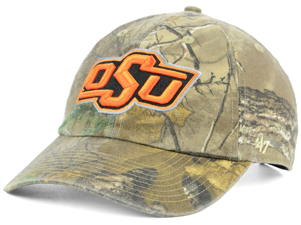 4ad6fe1c4f3 hot oklahoma state cowboys 47 ncaa real tree clean up cap lids e239a 50cc5