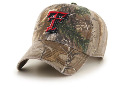 27f649ba1c3 Texas Tech Red Raiders  47 NCAA Real Tree CLEAN UP Cap