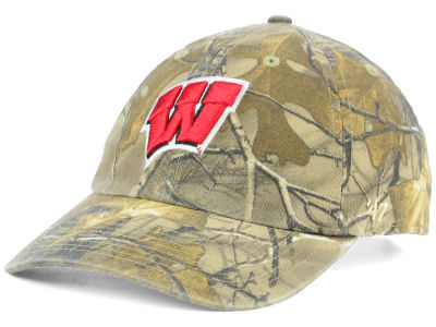 online store 431fd c4434 Wisconsin Badgers  47 NCAA Real Tree CLEAN UP Cap
