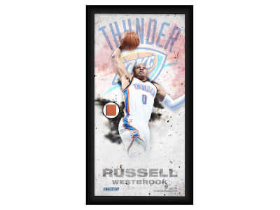 Oklahoma City Thunder Russell Westbrook Steiner 10x20 Framed Photo