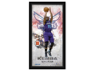 Charlotte Hornets Kemba Walker Steiner 10x20 Framed Photo