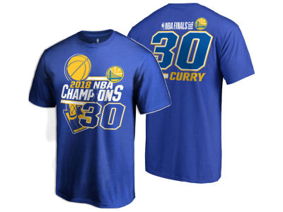 Golden State Warriors Stephen Curry 2018 NBA Men's Finals Champ Name and Number T-Shirt