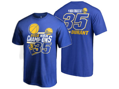 Golden State Warriors Kevin Durant 2018 NBA Men's Finals Champ Name and Number T-Shirt