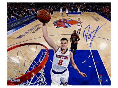 New York Knicks Kristaps Porzingis Steiner 16x20 Autographed Photo