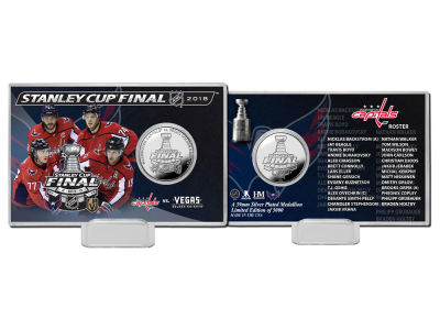 Washington Capitals Highland Mint 2018 NHL Stanley Cup Final Dueling Silver Coin Card