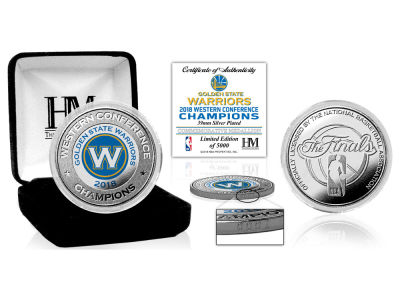 Golden State Warriors Highland Mint 2018 NBA Conference Champs Silver Mint Coin