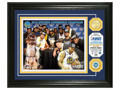 Golden State Warriors Highland Mint 2018 NBA Conference Champs Bronze Coin Photo Mint